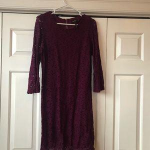 Laundry Marion lace 3/4 sleeve dress